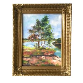 Obraz Pejzaż olej na płótnie drzewa Retrogabinet